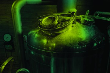 Brewery kettle closeup.
